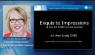 Exquisite Impressions: A Key To Restoration Success Webinar Thumbnail