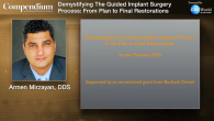 Demystifying The Guided Implant Surgery Process: From Plan to Final Restorations Webinar Thumbnail