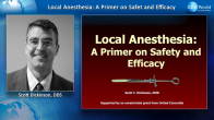 Local Anesthesia - A Primer on Safety and Efficacy Webinar Thumbnail