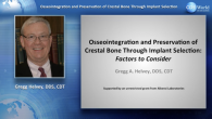 Osseointegration and Preservation of Crestal Bone Through Implant Selection: Factors to Consider Webinar Thumbnail