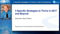 3 Specific Strategies to Thrive in 2017 and Beyond! Webinar Thumbnail