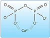 Figure 18. Pyrophosphate. Negatively charged pyrophosphate molecules bind (chelate) positively charged calcium ions.