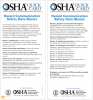 Fig 3. The OSHA Quick Card: Hazard Communication Safety Data Sheet can be found at www.osha.gov/ Publications/OSHA3493QuickCardSafetyDataSheet.pdf.
