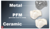Fig 1. Laboratory-fabricated dental materials include metal, porcelain fused to metal, and ceramic restorations.