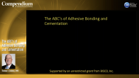 The ABC's of Adhesive Bonding and Cementation Webinar Thumbnail